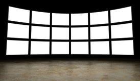 Schermi vuoti della TV Fotografia Stock Libera da Diritti