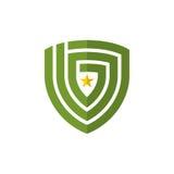 Schermo astratto con l'elemento di vettore dell'icona di logo della stella Fotografia Stock Libera da Diritti