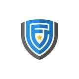 Schermo astratto con l'elemento di vettore dell'icona di logo della stella Immagine Stock