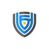 Schermo astratto con l'elemento di vettore dell'icona di logo della stella Immagine Stock Libera da Diritti