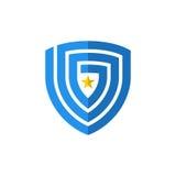 Schermo astratto con l'elemento di vettore dell'icona di logo della stella Fotografie Stock Libere da Diritti