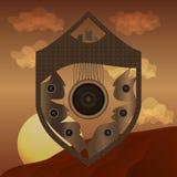 Schermo astratto sul fondo del deserto Royalty Illustrazione gratis