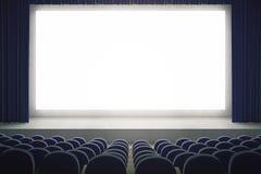 Schermo in bianco in cinema Immagine Stock Libera da Diritti