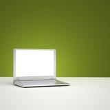 Schermo in bianco del computer portatile Fotografia Stock