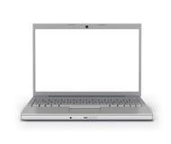 Schermo in bianco del computer portatile di vista frontale [percorso di residuo della potatura meccanica] Fotografia Stock