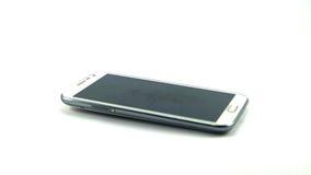Schermo bianco del nero di Smartphone Immagine Stock