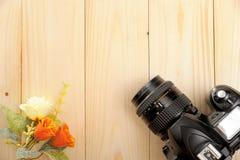 Schermo in bianco della macchina fotografica dello slr Fotografia Stock