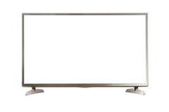 Schermo in bianco della TV con il percorso di ritaglio Fotografia Stock