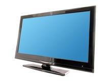 Schermo blu dell'affissione a cristalli liquidi TV Fotografia Stock