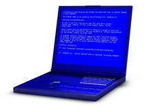 Schermo blu della morte Fotografie Stock Libere da Diritti