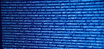 Schermo con il codice degli sviluppatori di software Fotografia Stock