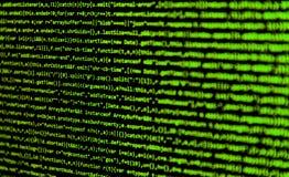 Schermo con il codice degli sviluppatori di software Immagine Stock Libera da Diritti