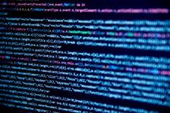 Schermo con il codice degli sviluppatori di software Immagini Stock Libere da Diritti