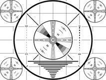 Schermo d'annata della prova della TV Modello bianco nero di calibratura della televisione di American National Standard illustrazione vettoriale
