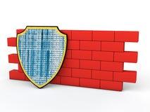 schermo 3d e parete rossa Immagine Stock