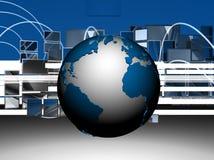 Schermo del abd del globo Fotografia Stock Libera da Diritti