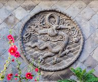 Schermo del Cinque-drago di Datong Fotografie Stock
