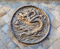 Schermo del Cinque-drago di Datong Fotografia Stock
