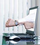 Schermo del computer portatile Fotografia Stock