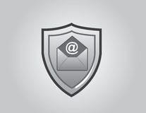 Email dello schermo Fotografie Stock