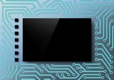 Schermo del fondo sul chip Fotografia Stock Libera da Diritti