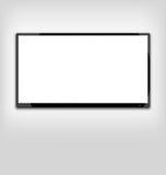 Schermo del LED o di LCD TV che appende sulla parete Immagini Stock Libere da Diritti