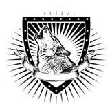 Schermo del lupo illustrazione vettoriale