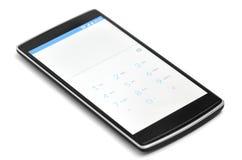 Schermo del quadrante dello Smart Phone isolato Immagini Stock
