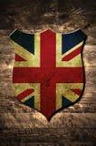 Schermo del Regno Unito del metallo Fotografie Stock