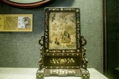 Schermo del sedile dell'immagine di arte del ricamo di Guangdong immagini stock libere da diritti