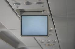 Schermo del video dell'aeroplano fotografie stock libere da diritti