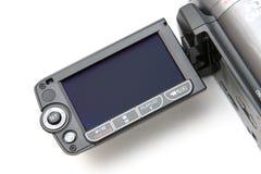 Schermo dell'affissione a cristalli liquidi della videocamera Fotografie Stock Libere da Diritti