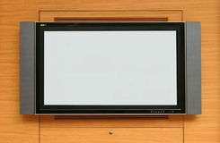 Schermo dell'affissione a cristalli liquidi TV immagini stock