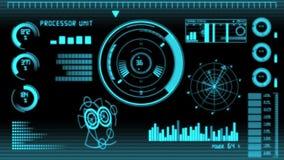 Schermo dell'interfaccia di tecnologia illustrazione vettoriale