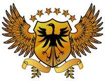 Schermo dell'oro di Eagles Immagini Stock