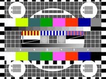 Schermo della prova della TV Immagine Stock