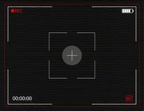 Schermo della registrazione della macchina fotografica con il fondo analogico di marezzatura di impulso errato di vettore TV Immagini Stock