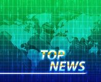 Schermo della spruzzata di notizie Immagini Stock