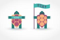 Schermo della tartaruga con un'insegna Immagine Stock Libera da Diritti