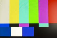 Schermo della televisione con rumore statico causato dal cattivo recepti del segnale immagine stock libera da diritti