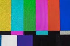 Schermo della televisione con rumore statico causato dal cattivo recepti del segnale immagine stock