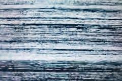 Schermo della televisione con rumore statico causato dal cattivo recepti del segnale immagini stock libere da diritti