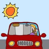 Schermo dello schermo di Sun dell'automobile Immagine Stock