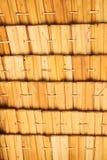 Schermo di bambù del tessuto Immagini Stock