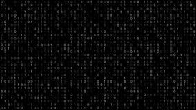 Schermo di codice binario illustrazione vettoriale