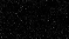 Schermo di codice binario royalty illustrazione gratis