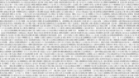 Schermo di codice binario illustrazione di stock