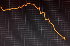 schermo di computer di riserva di recessione di arresto fotografia stock libera da diritti