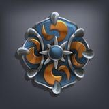 Schermo di fantasia del ferro per il gioco o le carte royalty illustrazione gratis