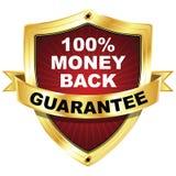 Schermo di garanzia soddisfatti o rimborsati Immagine Stock